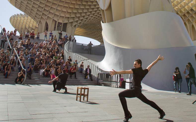 A pie de calle- espectacle de Daniel Doña dins del festival Ciutat Flamenco 2015 - Mercat de les Flors, Dansa i Moviment