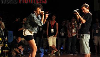 Taller de Beatbox dins del Hop Evolucions amb Tamara Cantón al Mercat de les Flors